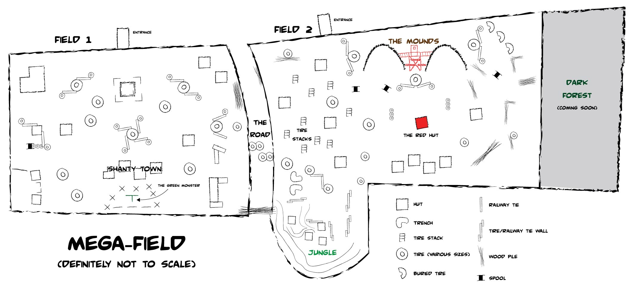 Millionaire Paintball in Abbotsford Field Map