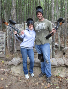 a vancouver paintball husband and wife