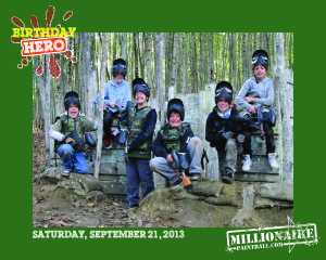 Birthday Hero paintball party package